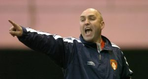 Shelbourne manager John McDonnell whose side registered an important victory at Tolka Park last night.