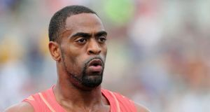 Sprinter Tyson Gay has tested positive for a banned substance and has pulled out of next month's World Championships. Photograph:  Christian Petersen/Getty Images.