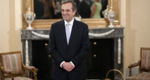 "Greek prime minister Antonis Samaras: ""He has not only offended Greeks but, perhaps more importantly, in the European context where he is so dependent on the good opinion of his mentors in Berlin and Brussels, he has not impressed."" Photograph: Reuters/John Kolesidis"