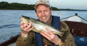 Mark Johnston from Cavan with a superb Sheelin trout caught after the murrough started to hatch.