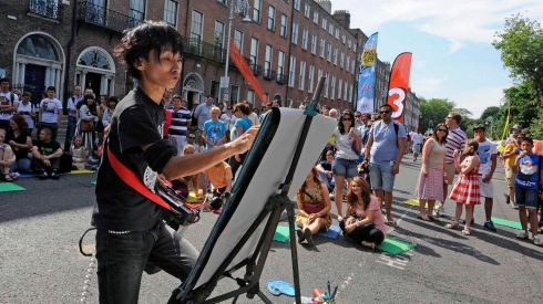 Akira peforming at the Street Performance World Championship at the weekend. Photograph: Dave Meehan