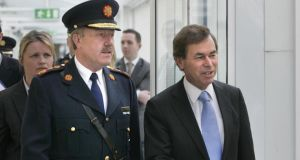 File image of Minister for Justice, Equality and for Defence, Alan Shatter, with Garda Commissioner Martin Callinan.  Photograph: Dara Mac Donaill / THE IRISH TIMES