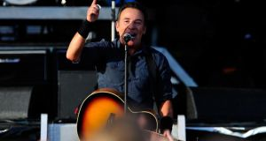 Bruce Springsteen performs at Hard Rock Calling Day 2 at Olympic Park on June 30th  last in London. Photograph: Matt Kent/Getty Images