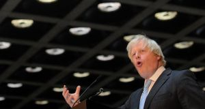 "Boris Johnson: ""We have to build an airport capable of emulating that scale of growth."" Photograph: Anthony Devlin/PA Wire"