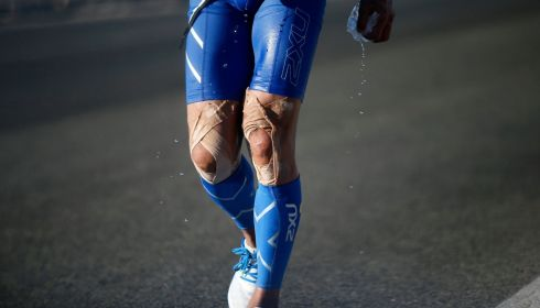 Think of the knees! Imagine what they have to go through. Photograph: Lucy Nicholson/Reuters