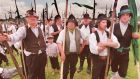 Pikemen waiting to march during Vinegar Hill Day in Enniscorthy, Co Wexford in June 1998 to commemorate the 1798 Rebellion. Photograph: Frank Miller/The Irish Times