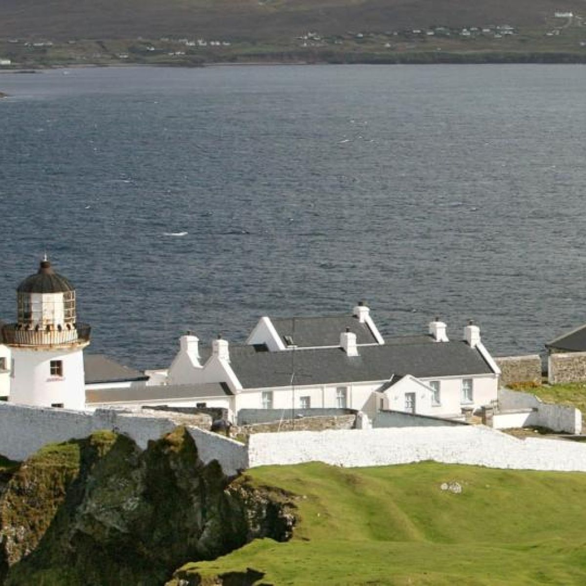 Clare Island lighthouse shines on