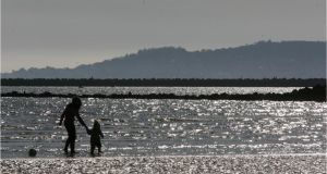 Dollymount Strand made a fine venue for the 33rd staging of the Banana Cup. Photograph: Dara Mac Dónaill / THE IRISH TIMES