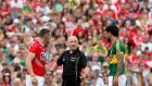 It was no surprise when old rivals Noel O'Leary from Cork and Kerry's Paul Galvin renewed acquaintances in the Munster final at Killarney. Photo: James Crombie/Inpho
