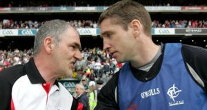 Tyrone's Mickey Harte and Kildare manager Kieran McGeeney will pit their wits against one another again  this weekend