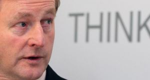 "Taoiseach Enda Kenny: ""had never taken a 'leader's initiative' on anything in his life until October 17th, 2009."" Photograph:   Niall Carson/PA"
