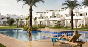 A two-bed 60sq m apartment  in Costa Calida, southeast of Murcia, Spain, comes with open-plan kitchen/living area and a terrace facing on to communal gardens. Priced at €72,500 with spanishpropertycenter.com