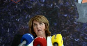 Minister for Social Protection Joan Burton outlines the main provisions of the  Bill to give Recognition  to transgender people yesterday. Photograph: Brenda Fitzsimons