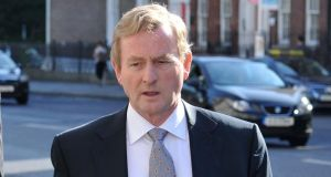 "Taoiseach Enda Kenny:  ""The matter is before the High Court now, and I cannot involve myself in a parallel negotiating position."" Photograph: Dara Mac Dónaill"
