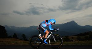Dan Martin of Ireland and Team Garmin- Sharp in action during stage 17 of the 2013 Tour de France. Photograph:   Bryn Lennon/Getty Images