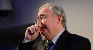 Minister for Communications Pat Rabbitte was beset by a group of more than 40 splinter republican and left-wing supporters tonight as he tried to enjoy a pint in Doheny and Nesbitt's pub in Merrion Row, not far from the Dáil.  in Dublin city centre.