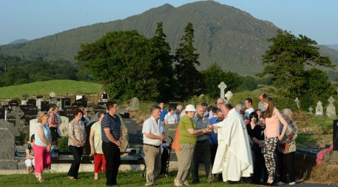 Receiving the host on a perfect Kerry day. Photograph: Frank Miller/The Irish Times