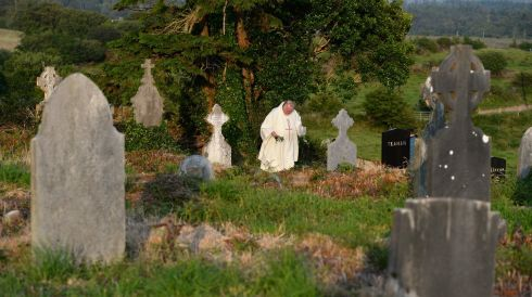 Among ancient and some newer headstones. Photograph: Frank Miller/The Irish Times
