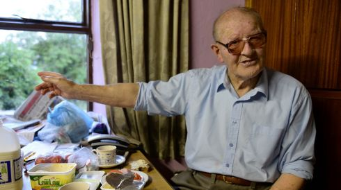 Eoin Downing (85), recalls past days of the Pattern Mass. Photograph: Frank Miller/The Irish Times