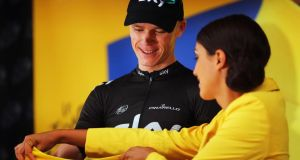 Chris Froome  retained his yellow jersey after stage 17 of the 2013 Tour de France. Photograph: Bryn Lennon/Getty Images