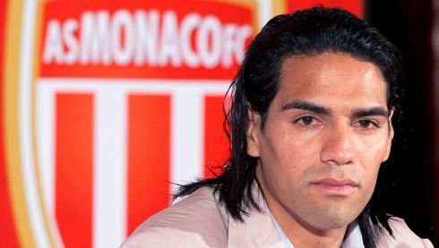 Colombian Radamel Falcao, the most in-demand striker in the world, surprisingly opted to join French Ligue 1 side AS Monaco, though he didn't look to happy about it. Photograph: Olivier Anrigo/Reuters