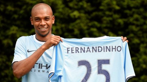 Manchester City missed out on Falcao and Cavani but appeased their fans, sort of, with the signing of Brazilian midfielder Fernandinho from Shakhtar Donetsk for around €30 million. Photograph: Nigel Roddis/Reuters