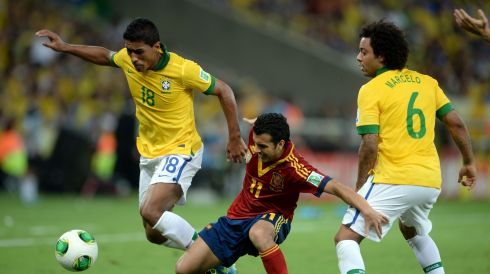 In an unusually swift and seamless transition, Spurs moved to bring in Brazilian international midfielder Paulinho immediately after he scored twice in the host nation's memorable Confederations Cup win against Spain. The fee remains undisclosed. Here he is at left in action during that game with teammate Marcelo at right and Pedro Rodríguez of Spain. Photograph: Michael Regan/Getty Images