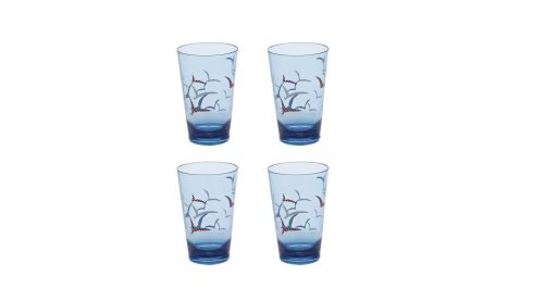 THREE OF THE BEST . . . FOR SUMMER PUNCH: Whatever your poison serve it in an unbreakable plastic tumbler. This bird motif set of four (right) costs €11 at Next Home (nextdirect.com).