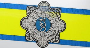 03/07/2013....ARCHIVE...WEB STOCK...Garda crest as seen on a patrol car. Logo sign crest security Garda Gardai crime ...Photograph: Frank Miller  /THE IRISH TIMES