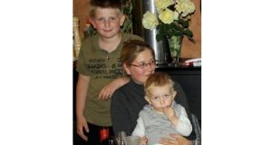 Maria O'Shea with her sons Soren (11), and Conor (3), who died in the crash in Denmark.