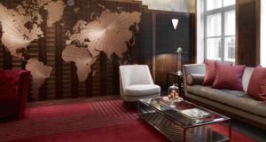 The map room in Claridges, London