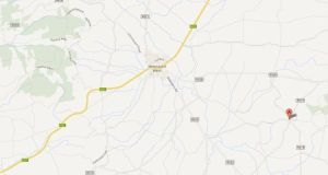 The teenager was working on his grandfather's farm in Kilmeedy in the west of Co Limerick at about 2.45pm yesterday afternoon when the incident occurred. Image: Google Maps