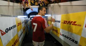 Sam Warburton suffered a hamstring tear on the Lions tour of Australia