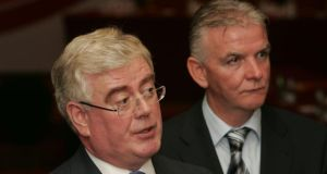 File image of John Kelly with Labour part leader Eamon Gilmore (left). Photograph: Alan Betson / The Irish Times