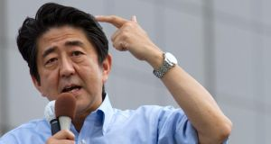 Prime Minister Shinzo Abe's Liberal Democrats  are expected to cruise to victory. Photograph: Noriyuki Aida/Bloomberg