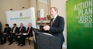 Taoiseach Enda Kenny at yesterday's Action Plan for Jobs event