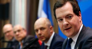 Britain's Chancellor of the Exchequer George Osborne (attends a news conference as part of the G20 finance ministers and central bank governors' meeting. Photograph: Grigory Dukor/Reuters
