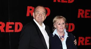 Mel Smith (left) with his wife Pam in 2010. Photograph: Yui Mok/PA Wire
