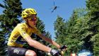 Race leader Chris  Froome of Britain cycles during the 125 km 20th stage of the Tour de France. Photograph: Jean-Paul Pelissier/Reuters