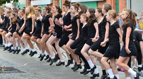 Members of the Kirwan Academy of Irish Dance , Co Carlow join the record attempt.  Photograph: Alan Betson/The Irish Times