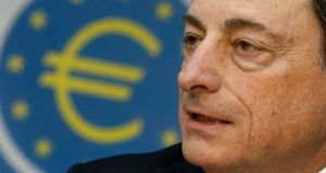 Whether the ECB's Mario Draghi would be prepared to fund a vehicle or structure that would pay more than the market price for the Irish banks' tracker mortgages is debatable. Photograph: Reuters/Lisi Niesner