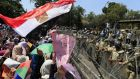 Supporters of ousted Egyptian President Mohammed Morsi chants slogans against Egyptian Defense Minister Gen. Abdel-Fattah el-Sissi.
