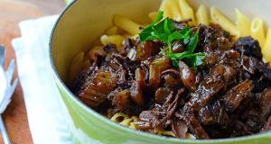 Penne with braised beef