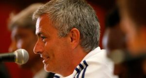 Chelsea manager Jose Mourinho addresses a news conference. Photograph: Bazuki Muhammad/Reuters