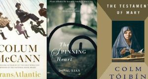 McCann's Transatlantic, Tóibín's The Testament of Mary and Ryan's The Spinning Heart are all on the longlist for prestigious fiction award.