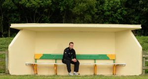 Donegal footballer Michael Murphy at his home club of Glenswilly,  where the official launch of the 2013 GAA Football Championship All-Ireland Series took place. Photograph: Stephen McCarthy/ Sportsfile.