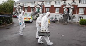 Gardaí at the scene of the   death of a Polish man at Sandfield Mews, Ennis, on Tuesday morning. Photograph:  Eamon Ward