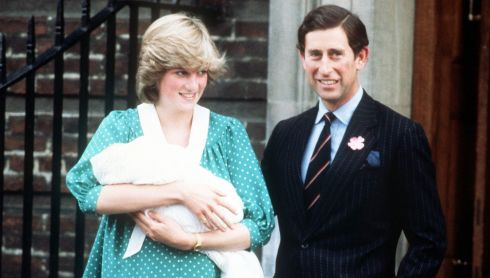 A file photograph dated 22/06/1982 of the Prince and Princess of Wales with their newborn Prince William outside the Lindo Wing of St Mary's Hospital as they left the hospital for Kensington Palace. Photograph: PA Wire