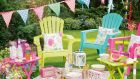 Garden party:  American lounge chair  from Dobbies Garden Centre in Lisburn and  paper bunting thefavourshop.ie