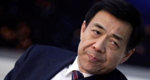 Bo Xilai, once a contender for the top leadership in the world's second-largest economy, was ousted last year as Communist Party chief in Chongqing, in China's biggest political scandal in two decades, following the murder of British businessman Neil Heywood. Photograph:  Reuters/Jason Lee